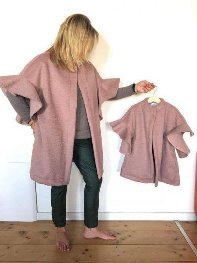 cappottino bimbo rosa antico handmade meta prezzo