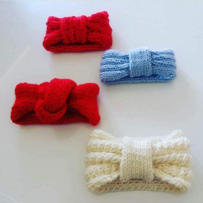 OFFERTA Fascia per capelli di lana bimba realizzate a mano bari