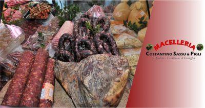 macelleria sassu bonarcado offerta salumi e prosciutti tradizione sarda