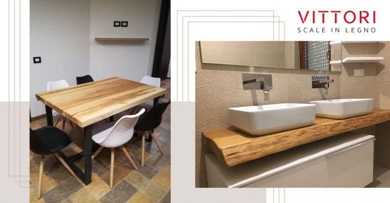 Offerta Piano di Lavoro in legno Massello Cucina - Occasione Piano da Bagno in Legno Massello