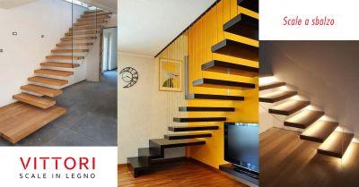 offerta scale a sbalzo legno artigianali roma occasione scale a sbalzo preventivo roma