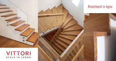 offerta rivestimento in legno scale cemento roma occasione gradini in legno per scale in muratura