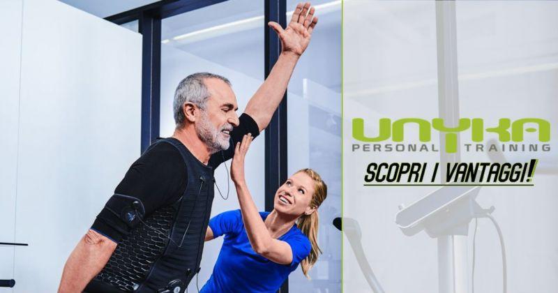 UNYKA palestra Cagliari - vantaggi allenamento elettrostimolazione muscolare