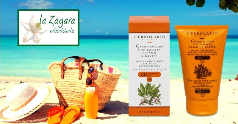 offerta vendita online crema solare pelli sensibili - occasione acquisto crema solare Erbolario
