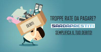 sarda prestiti offerta consolidamento prestiti unica rata finanziamento estinguere debito