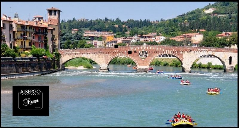 Hotel Restaurant Roma - Pescantina Rafting - gleiten Sie zwischen den Steilhängen der Etsch