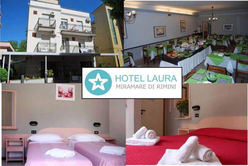 HOTEL LAURA offerta hotel economico Rimini - occasione pensione vicino al mare Rimini