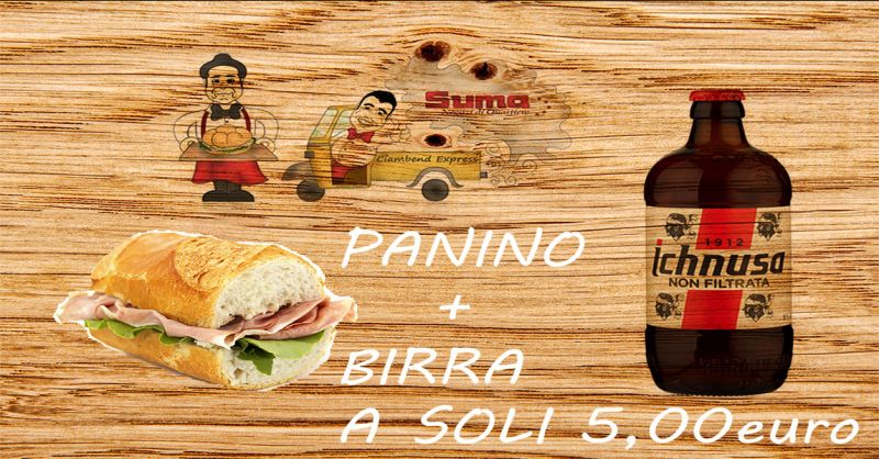 offerta menu economico brindisi - occasione panino e birra brindisi