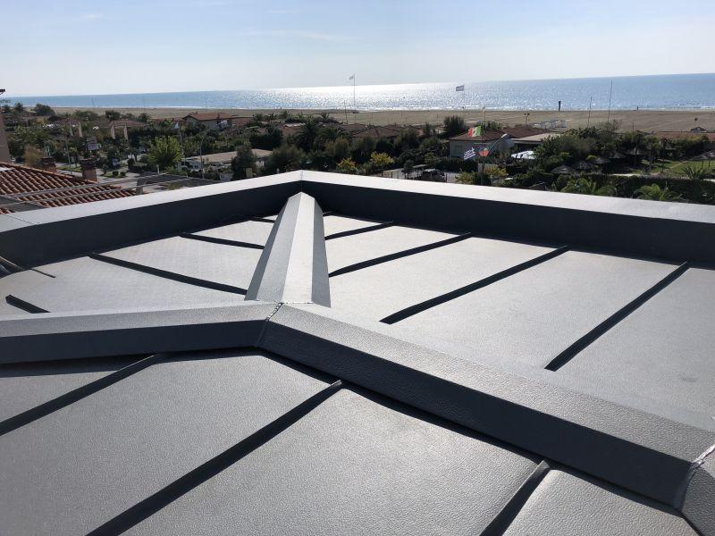 offerta copertura in doppia aggraffatura metallica toscana - copertura metallica toscana