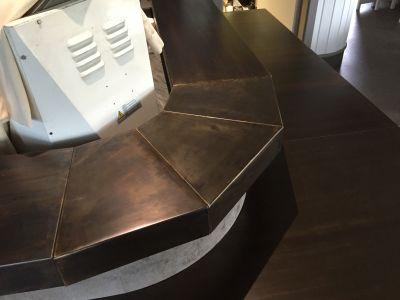 offerta coperture in metallo banconi negozio toscana coperture in metallo per arredo toscana