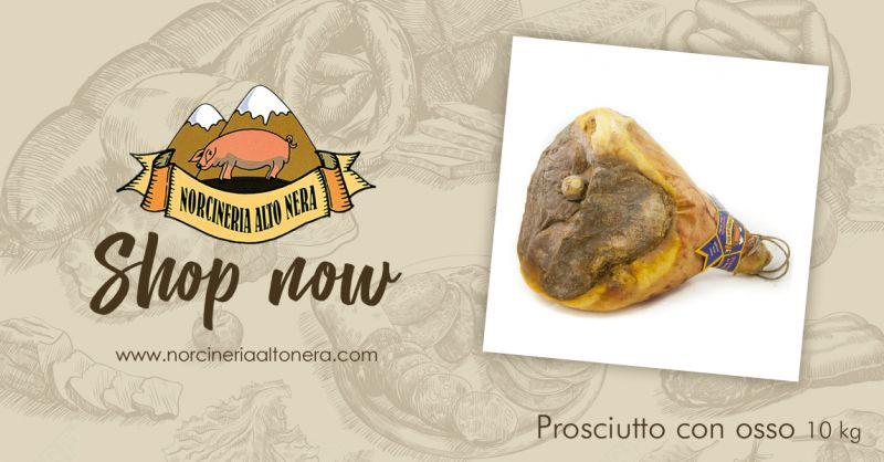 NORCINERIA ALTONERA - offerta vendita prosciutto con osso stagionato online