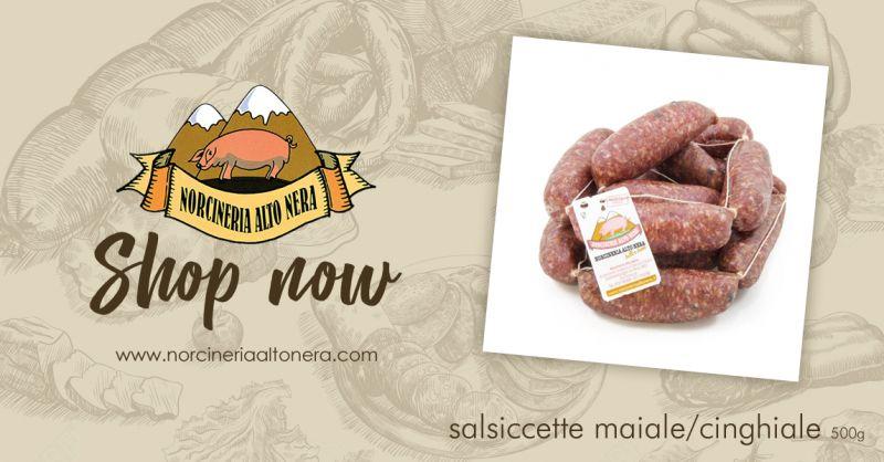 NORCINERIA ALTONERA - offerta vendita salsicce maiale cinghiale online