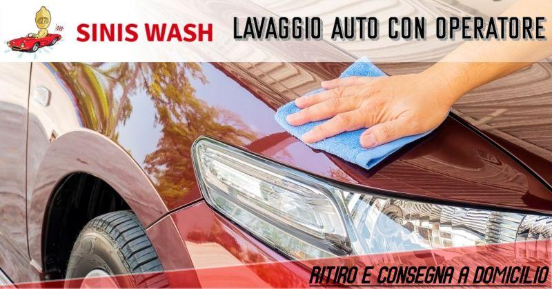 SINIS WASH Cabras - offerta servizio lavaggio auto ritiro a domicilio