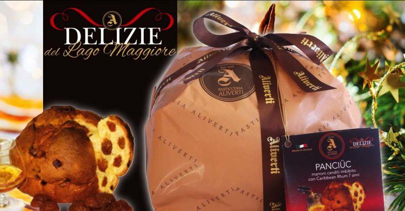PASTICCERIA ALIVERTI - Promozione vendita panettoni artigianali con marroni canditi e Rhum