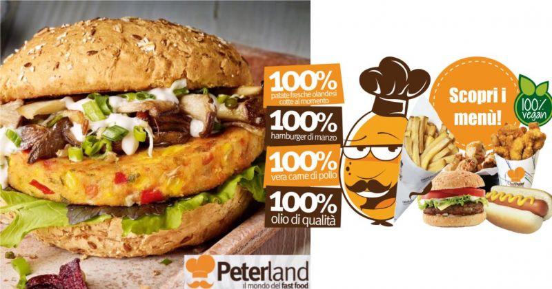 PETERLAND FAST FOOD CAGLIARI - offerta menu panino patatine olandesi bibita