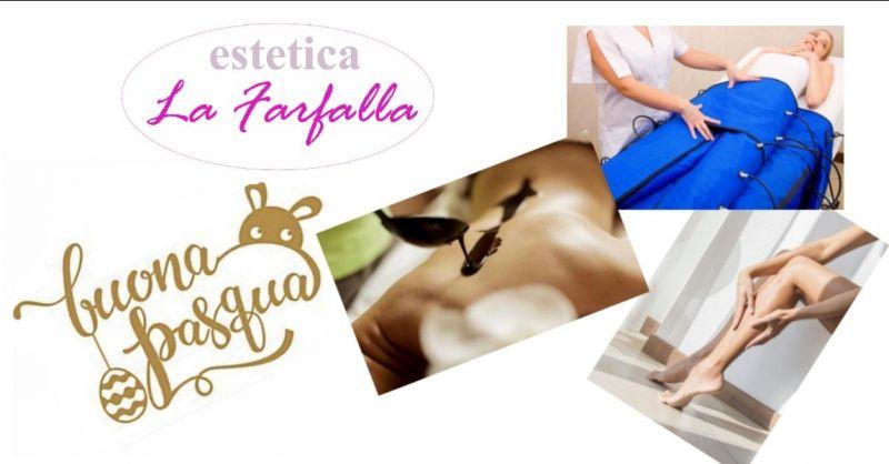 Offerta trattamento fanghi cioccolato pressomassaggio pedana vibrante Estetica La Farfalla