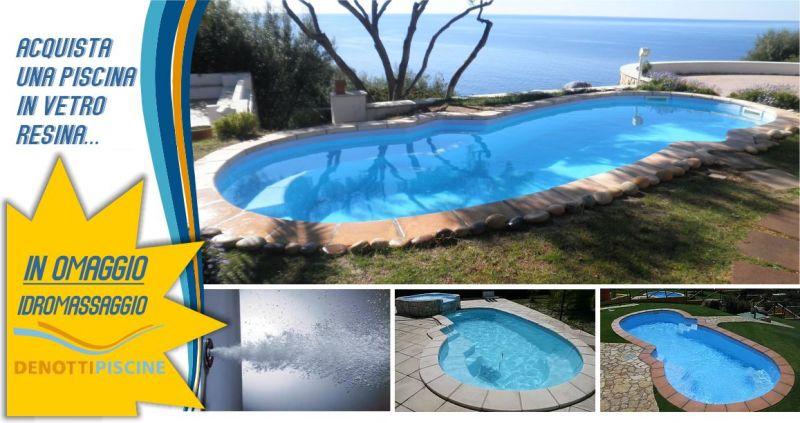 DENOTTI offerta piscina in vetroresina - occasione idromassaggio completo di montaggio