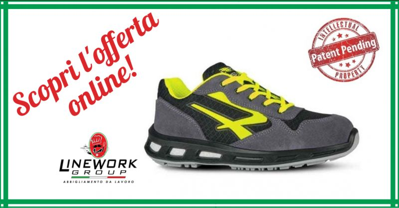 LINE WORK GROUP - offerta vendita scarpe antinfortunistiche u power yellow s1p src napoli