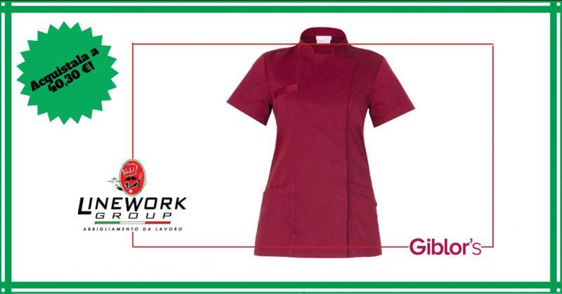 LINE WORK GROUP - offerta casacca da lavoro femminile con abbottonatura nascosta napoli