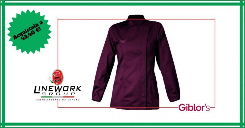 LINE WORK GROUP - offerta vendita casacca da lavoro femminile a manica lunga napoli