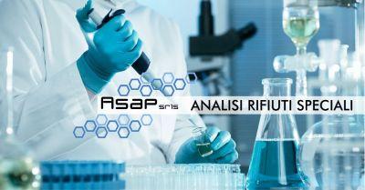 asap laboratorio offerta analisi rifiuti speciali certificazione codice cer smaltimento