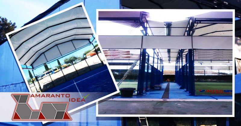 Offerta installazione fornitura copertura campi da Padel con apertura elettrica