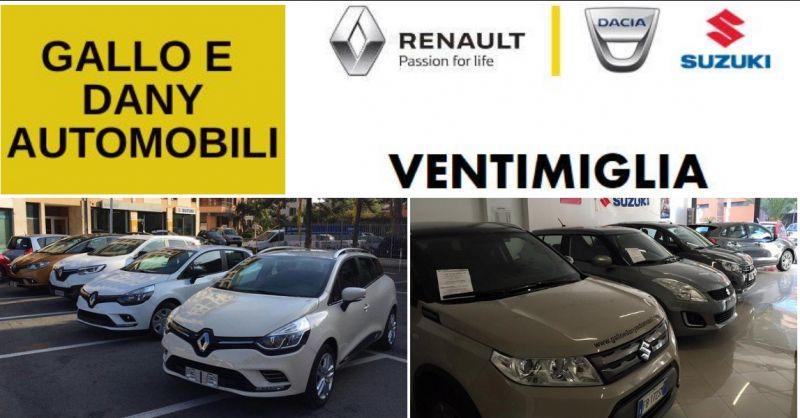 Gallo e Dany Srl - occasione auto usate - offerta auto nuove Renault Dacia Susuki - Ventimiglia