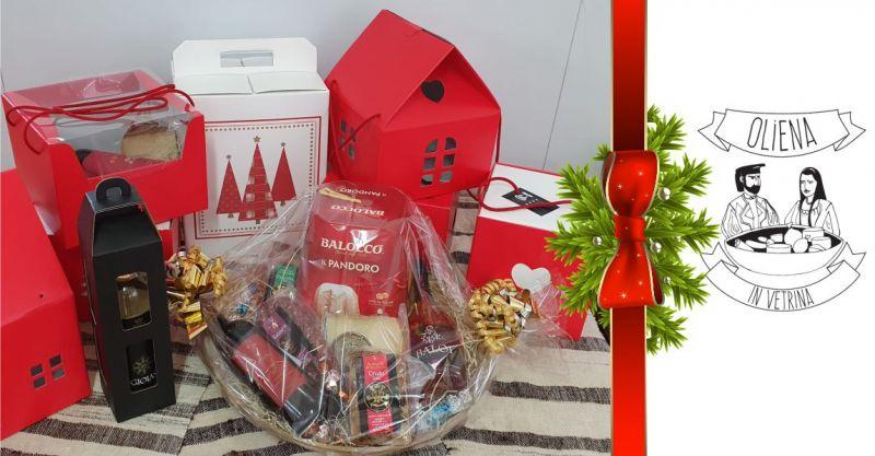 Oliena in Vetrina - offerta realizzazione cesti regalo natalizi con i migliori prodotti tipici sardi