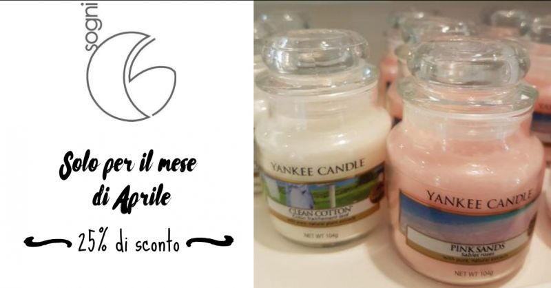 Sogni - Offerta Yankee Candle fragranze primavera - occasione fragranze clean cotton pink sands