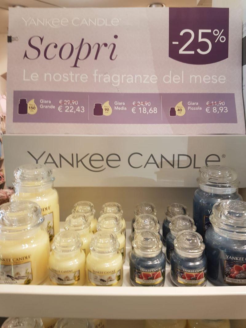 offerta YANKEE  CANDLE!  le fragranze del mese sono in negozio!!!