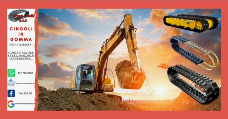 FAST EDIL - occasione servizio di vendita di cingoli in gomma per escavatori napoli