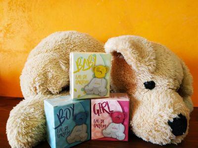 scopri i nostri profumi per bimbo bimba e neonato idea regalo originale per bomboniera
