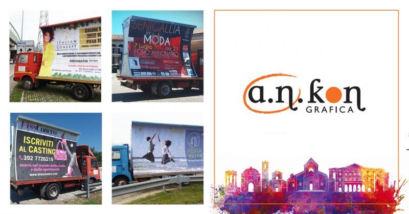 A.N.KON GRAFICA offerta noleggio camion vela - occasione camion vela pubblicitari ancona