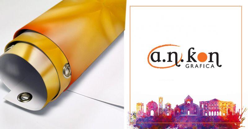 A.N.KON GRAFICA offerta Striscioni pvc occhiellati - occasione stampa banner pvc ancona