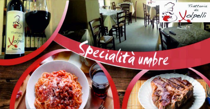 trattoria volpelli offerta cucina umbra - occasione ristorante tipico umbro