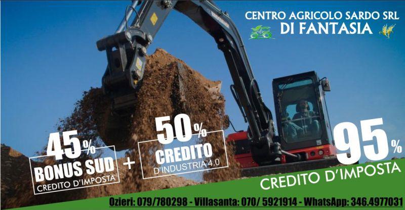 FANTASIA CENTRO AGRICOLO SARDO  - offerta mezzo agricolo credito industria 4-0 bonus sud