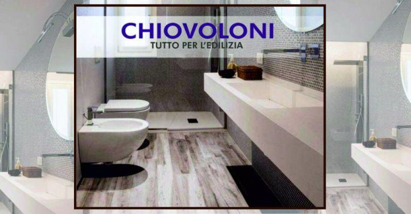 promozione bagno moderno pavimento finto legno con piatto doccia - F.LLI CHIOVOLONI