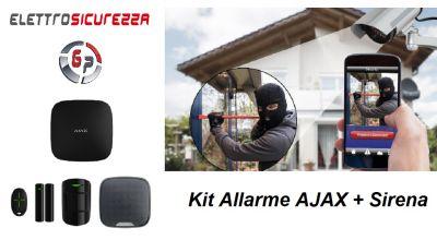 g p elettrosicurezza occasione vendita sistema kit allarme ajax con sirena anzio roma