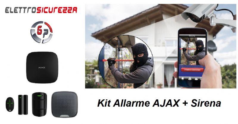 G.P. ELETTROSICUREZZA - Occasione vendita sistema Kit Allarme AJAX con Sirena ANZIO ROMA