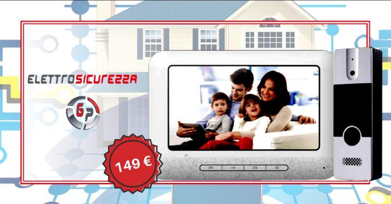 Offerta kit videocitofono quattro fili Anzio - occasione vendita kit videocitofono Roma