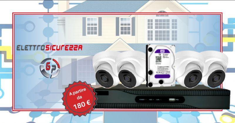 Offerta kit dvr quattro canali Anzio - occasione kit videosorveglianza con hard disk Roma