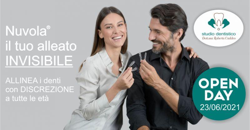 Studio Dentistico Dott ssa Caddeo Sardara - offerta open day sistema ortodontico invisibile Nuvola