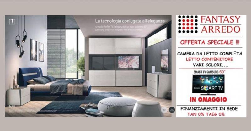 offerta vendita camera da letto completa napoli - occasione camera con letto contenitore napoli