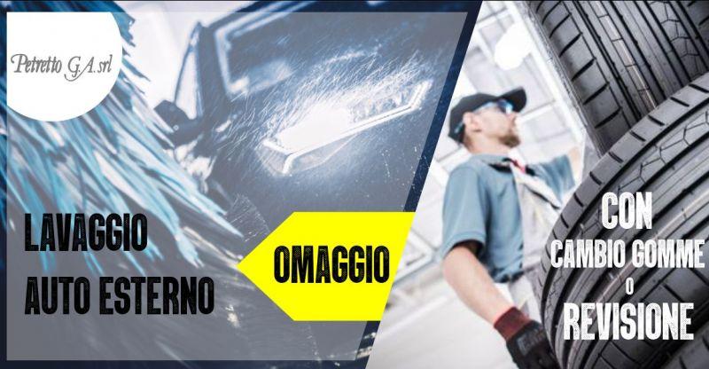 PETRETTO Ozieri - offerta lavaggio auto esterno nel portale con spazzoloni