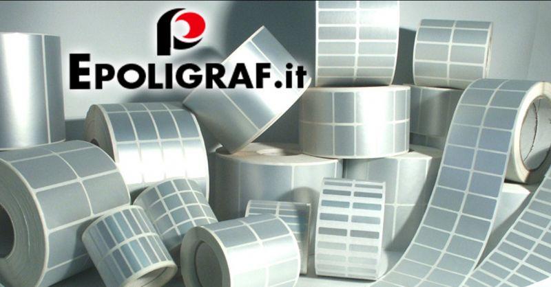 Offerta vendita etichette in bobina neutre - Occasione fornitura rotoli di etichette adesive