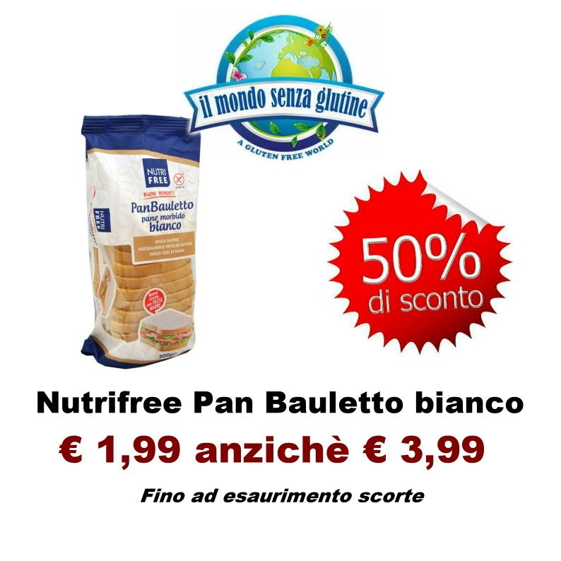 Offerta Pan Bauletto senza glutine e senza lattosio Nutrifree