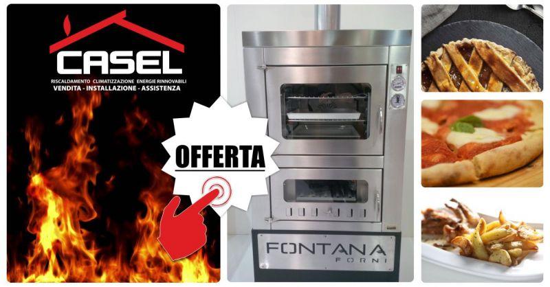 C.AS.EL. - offerta forno fontana a legna acciaio inox incasso cottura indiretta tempo 80 calore