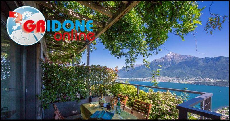 Gridone Immobiliare - Zweizimmerwohnung in Wohnanlage mit Schwimmbad, Solarium Blick Comer See
