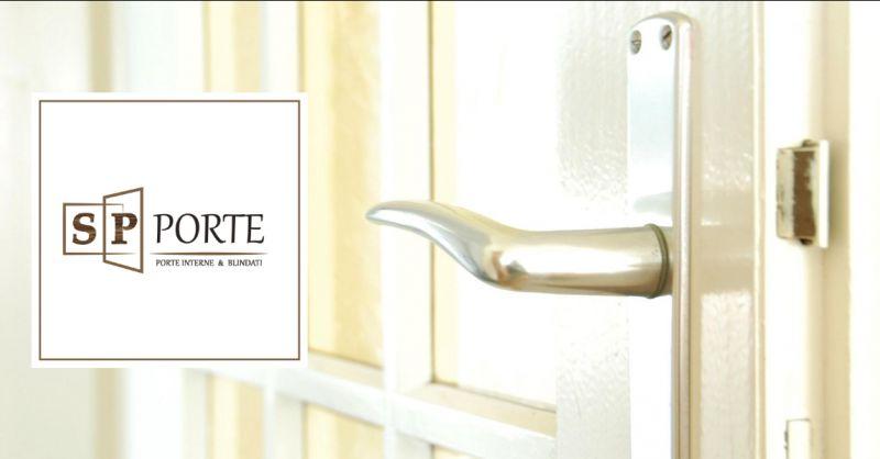 SP PORTE - offerta porta laccata bianca con vetro decorato caserta