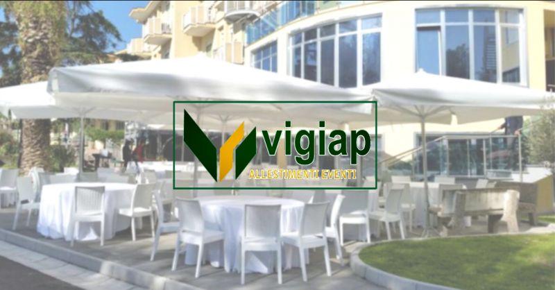 VIGIAP offerta noleggio ombrelloni da catering nola - occasione affitto gazebo per eventi nola